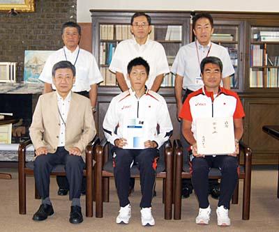日本高専学会で陸上の衛藤君が奨励賞を受賞